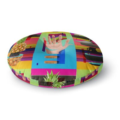 Roberlan Triptic Abstract Pop Art Round Floor Pillow Size: 26 x 26