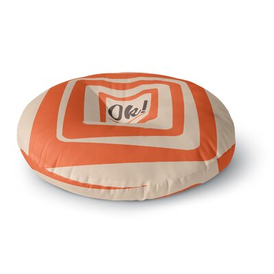 Roberlan So Ok Vector Round Floor Pillow Size: 26 x 26