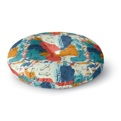 Rosa Picnic Untitled-1-a Digital Round Floor Pillow Size: 23 x 23