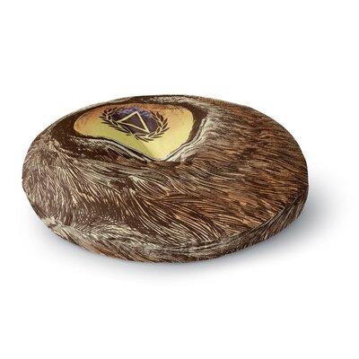 BarmalisiRTB Sharp Eye Owl Round Floor Pillow Size: 23 x 23