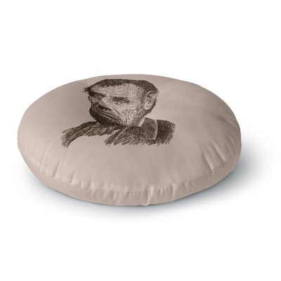 BarmalisiRTB Abraham Lincoln Vintage Round Floor Pillow Size: 26 x 26