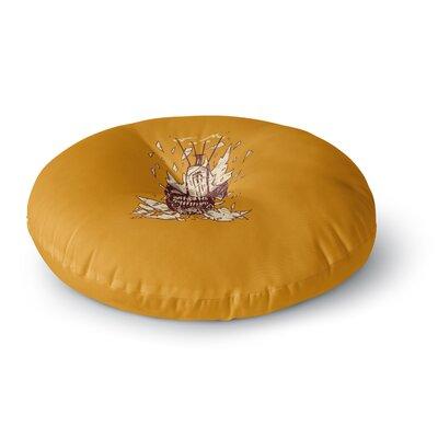 BarmalisiRTB Broken Bulb Round Floor Pillow Size: 26 x 26