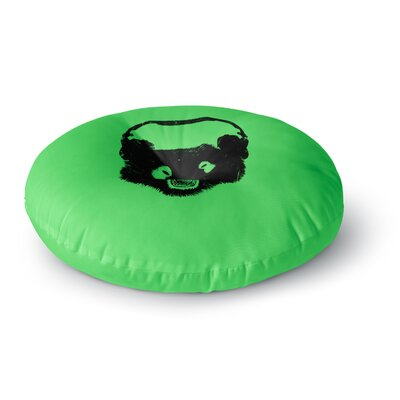 BarmalisiRTB Black Panda Digital Round Floor Pillow Size: 23 x 23