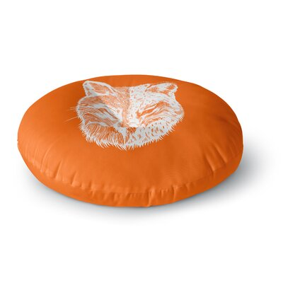 BarmalisiRTB Foxface Digital Round Floor Pillow Size: 26 x 26