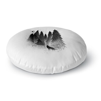 BarmalisiRTB Secret Forest Round Floor Pillow Size: 23 x 23