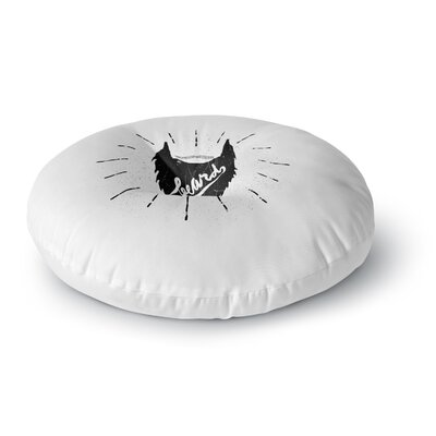BarmalisiRTB Beard Round Floor Pillow Size: 26 x 26