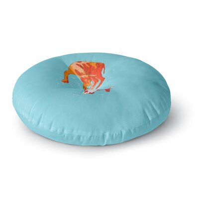 BarmalisiRTB Koi Cat Round Floor Pillow Size: 23 x 23
