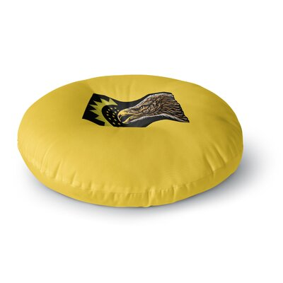 BarmalisiRTB North Dakota Digital Round Floor Pillow Size: 26 x 26