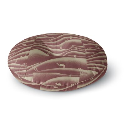 BarmalisiRTB Camels and Ladders Digital Round Floor Pillow Size: 26 x 26