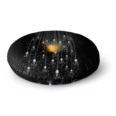 BarmalisiRTB One Light Digital Round Floor Pillow Size: 26 x 26