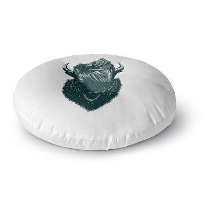 BarmalisiRTB Mohawk Buffalo Digital Round Floor Pillow Size: 26 x 26
