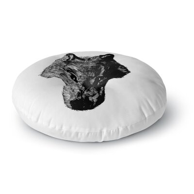 BarmalisiRTB Black Head Coyote Digital Round Floor Pillow Size: 23 x 23