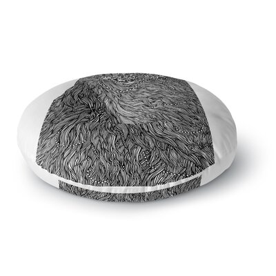 BarmalisiRTB Bushy Digital Round Floor Pillow Size: 23 x 23