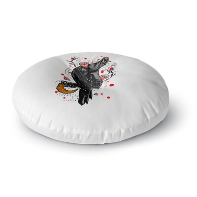 BarmalisiRTB Crow Diamond Digital Round Floor Pillow Size: 23 x 23