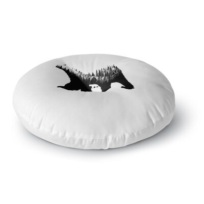 BarmalisiRTB The Bear Illustration Round Floor Pillow Size: 23 x 23