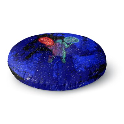 BarmalisiRTB King of Planets Digital Round Floor Pillow Size: 26 x 26
