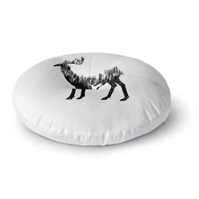 BarmalisiRTB The Deer Digital Round Floor Pillow Size: 26 x 26