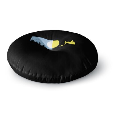 BarmalisiRTB Moon and Sun Digital Round Floor Pillow Size: 23 x 23