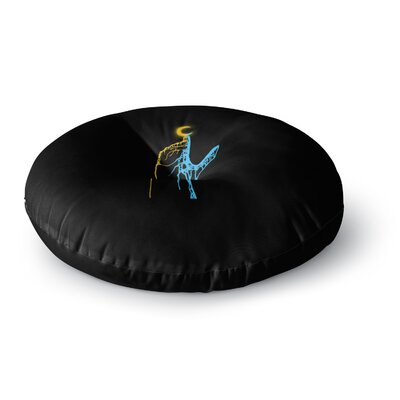 BarmalisiRTB Reached Digital Round Floor Pillow Size: 26 x 26
