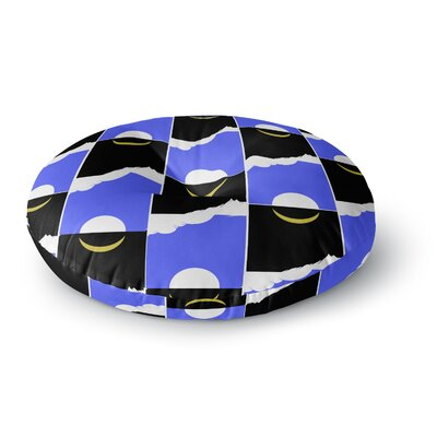 BarmalisiRTB The Sun and Moon Digital Round Floor Pillow Size: 26 x 26