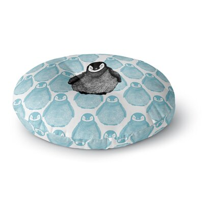 BarmalisiRTB Penguin Digital Round Floor Pillow Size: 26 x 26