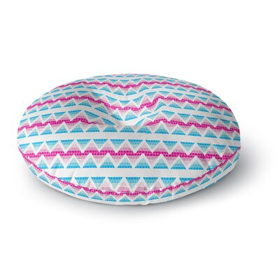 Apple Kaur Designs Swimming Pool Tiles Round Floor Pillow Size: 26 x 26