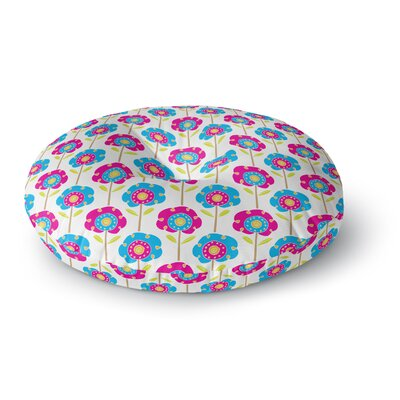 Apple Kaur Designs Lolly Flowers Round Floor Pillow Size: 26 x 26