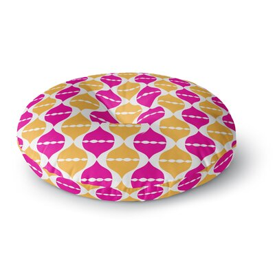 Apple Kaur Designs Moroccan Dreams Round Floor Pillow Size: 26 x 26