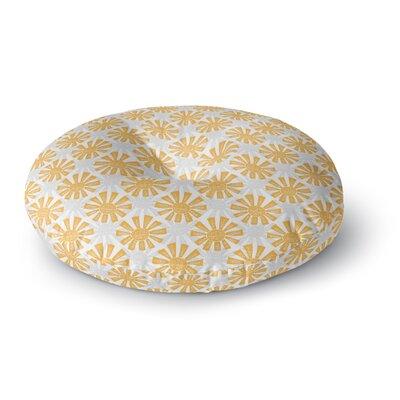 Apple Kaur Designs Sunburst Round Floor Pillow Size: 26 x 26