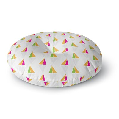 Apple Kaur Designs Triangles Round Floor Pillow Size: 23 x 23