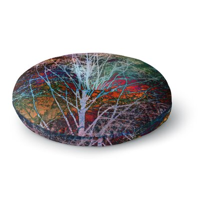 Sylvia Cook Trees in the Night Round Floor Pillow Size: 23 x 23