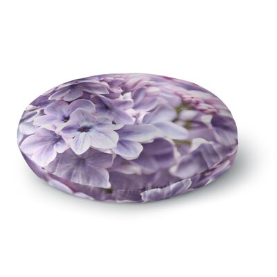 Sylvia Cook Lilac Flowers Round Floor Pillow Size: 26 x 26