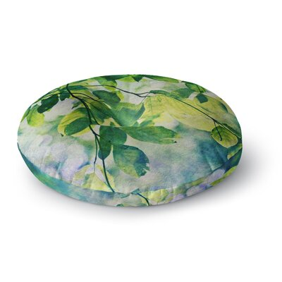 Sylvia Cook Leaves Round Floor Pillow Size: 26 x 26