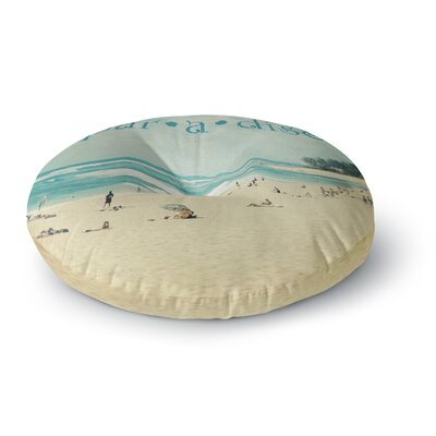 Sylvia Cook Paradise Round Floor Pillow Size: 26 x 26