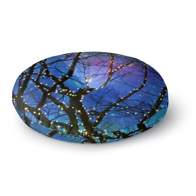 Sylvia Cook Holiday Lights Christmas Round Floor Pillow Size: 26 x 26