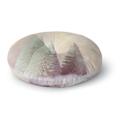Sylvia Cook Bottle Brush Trees Round Floor Pillow Size: 26 x 26