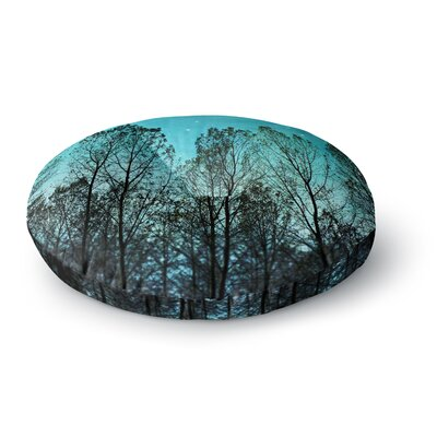 Sylvia Cook Dark Forest Trees Round Floor Pillow Size: 23 x 23