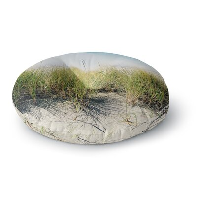 Sylvia Cook Dune Grass Coastal Photography Round Floor Pillow Size: 23 x 23
