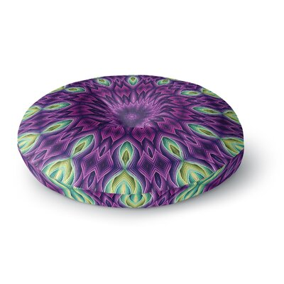 Sylvia Cook Zapped - Purple Round Floor Pillow Size: 23 x 23