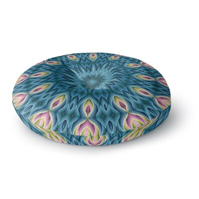 Sylvia Cook Zapped Teal Round Floor Pillow Size: 26 x 26