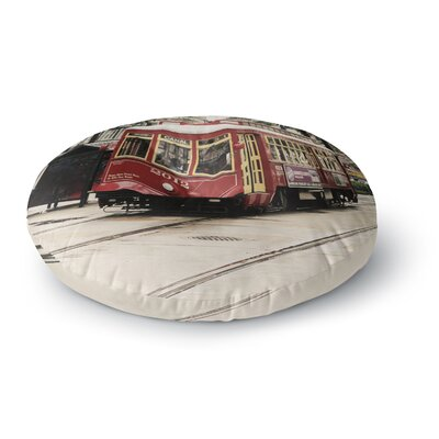Sylvia Cook Canal Street Car Travel Urban Round Floor Pillow Size: 23 x 23