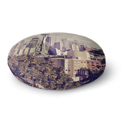 Sylvia Cook Space Needle Skyline Round Floor Pillow Size: 23 x 23