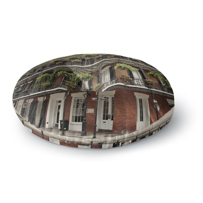 Sylvia Cook New Orleans Street Corner Round Floor Pillow Size: 23 x 23
