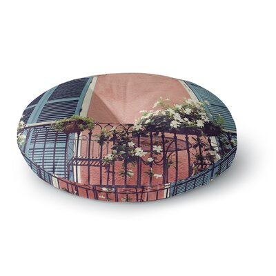 Sylvia Cook New Orleans Balcony Round Floor Pillow Size: 23 x 23