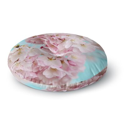 Sylvia Cook A Pastel Spring Floral Round Floor Pillow Size: 26 x 26