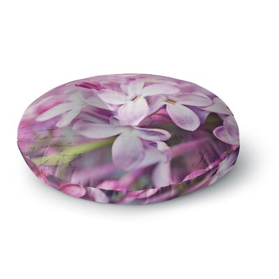 Sylvia Cook French Lilacs Photography Round Floor Pillow Size: 23 x 23