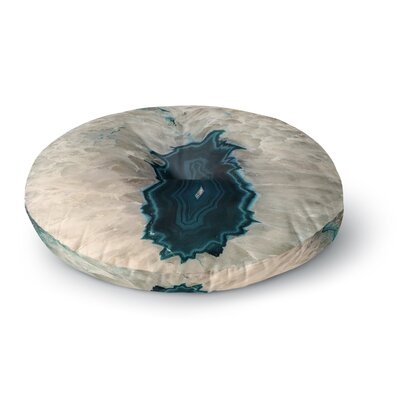 Sylvia Cook Aqua Quartz Geological Round Floor Pillow Size: 26 x 26