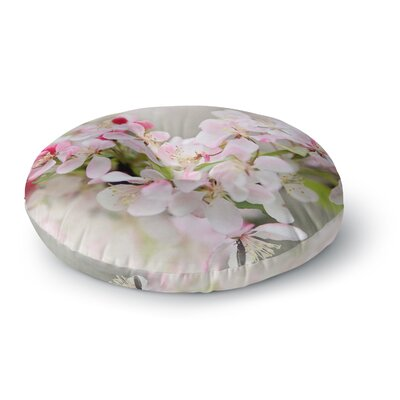 Sylvia Cook April Flowers Round Floor Pillow Size: 23 x 23