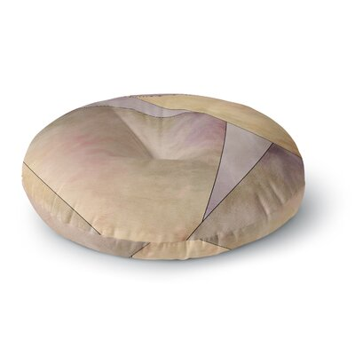 Sylvia Cook Fracture Digital Round Floor Pillow Size: 23 x 23
