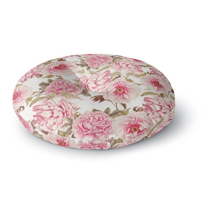 Sylvia Cook Vintage Peonies Digital Round Floor Pillow Size: 23 x 23